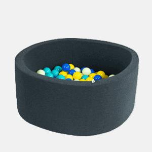 Suchy basen - okrągły - grafitowy - 8