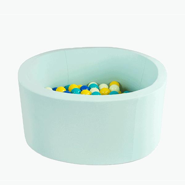 Suchy basen - okrągły - jasnomiętowy - 7