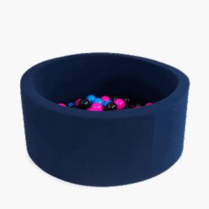 Suchy basen - okrągły - granatowy - 7