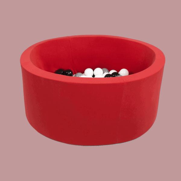 Suchy basen - okrągły - czerwony - 1