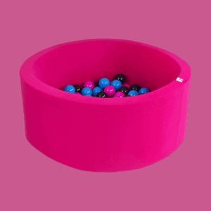 Suchy basen - okrągły - intensywnie różowy - 1