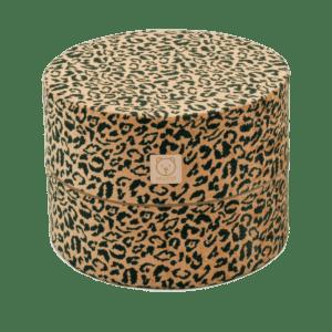 Pufa - okrągła - panterka