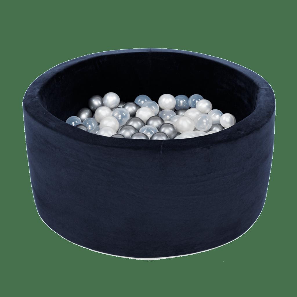 Suchy basen - okrągły - granatowy velvet