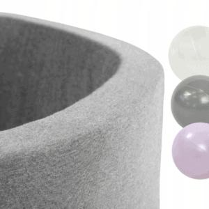Piłeczki - biała, szara, różowa - zestaw