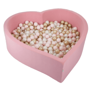 Suchy basen - serce - różowy