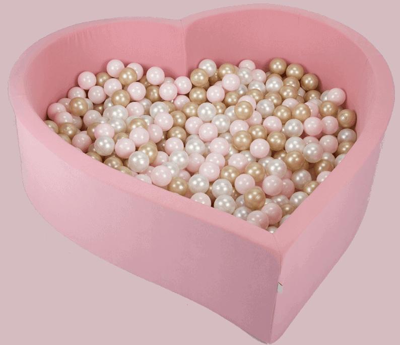 Suchy basen - serce - różowe