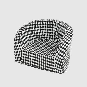 Fotel dziecięcy - szachownica biało-czarna
