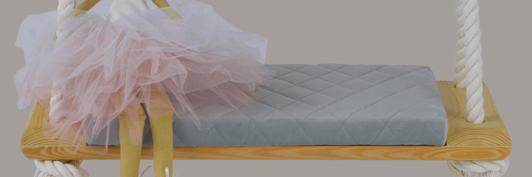 Huśtawka Comfort+ – Różowy, Naturalny