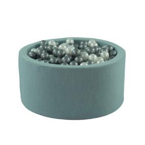 Suchy basen - wypełniony - jasnoniebieski