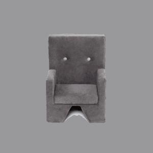 Fotelik szary - premium - velvet