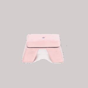 Podnóżek różowy - premium - velvet