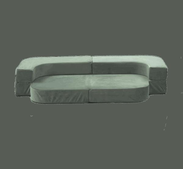 Sofa rozkładana - szara - velvet