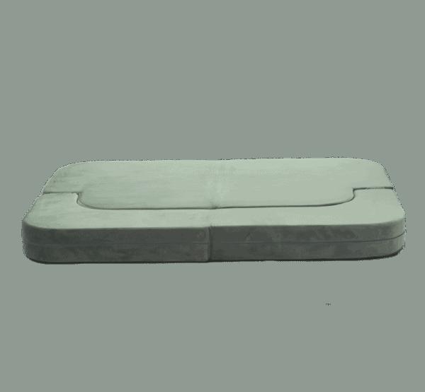 Sofa rozkładana - złożona - szara