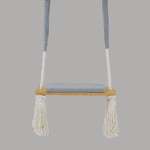 Huśtawka prosta - jasnoszare siedzisko - jasna deska