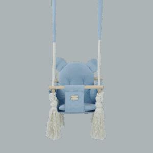 Huśtawka - mała niebieska - zbliżenie