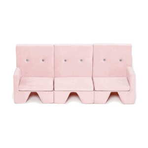 Zestaw sofa premium różowy